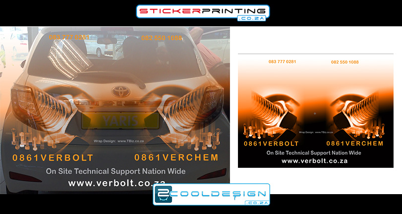 back of yaris 2014 vehicle wrap design concept