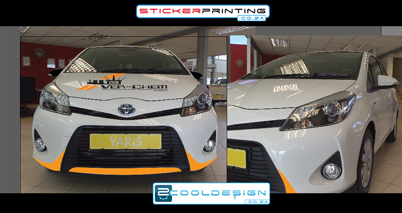 Front view yaris 2014 Vehicle wrap design concept